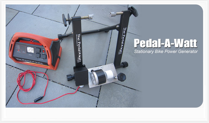 Great The Pedal A Watt Bicycle Generator Is A Pedal Power Generator That ...